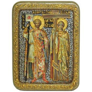 Подарочная икона святые равноапостольные константин и елена на мореном дуб