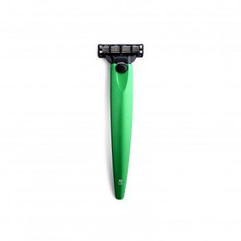 Бритва bolin webb r1, зеленый металлик, gillette mach3