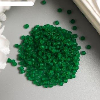 Бисер астра  11/0, 20 гр (m7в зеленый/прозр.матовый)
