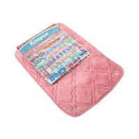 Набор вензеля коврик, штора для ванной eva (40*60, 183*183 см), розовый
