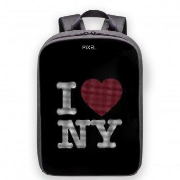 Рюкзак с led-дисплеем pixel plus, 37 х 28 х 11, silver, светло-серый