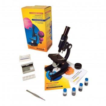 Микроскоп levenhuk 3s ng, монокулярный (в комплекте набор для опытов)