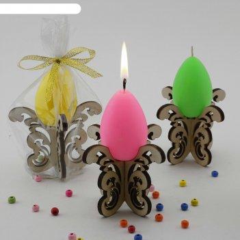 Декоративная свеча пасхальные кружева