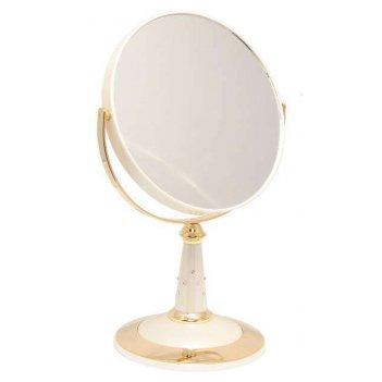 Зеркало b7 809 per/g wpearl&gold наст. кругл. 2-стор. 5-кр.у