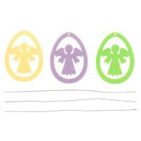 Набор пасхальных подвесок ангел 3шт, 6см, фетр 3мм
