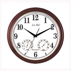 Настенные часы с термометром и гигрометром la mer gd 115020