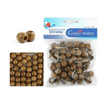 Деревянные бусины в упаковке colibry