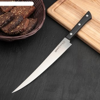 Нож samura harakiri филейный, abs пластик, лезвие: 22,4 см, aus-8