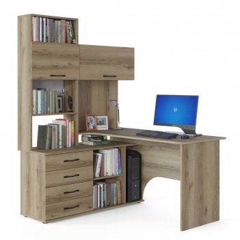 Компьютерный стол «кст-14 л», 1400 x 1235 x 1828 мм, левый, цвет дуб делан