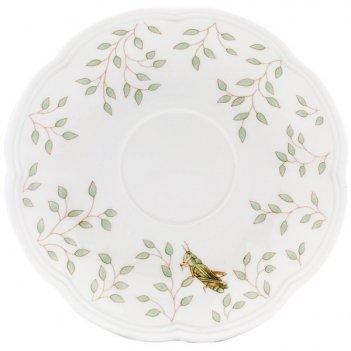 Блюдце для чашки чайно-кофейной 15см бабочки на лугу