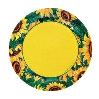 Тарелка с ламинацией подсолнух, 23 см