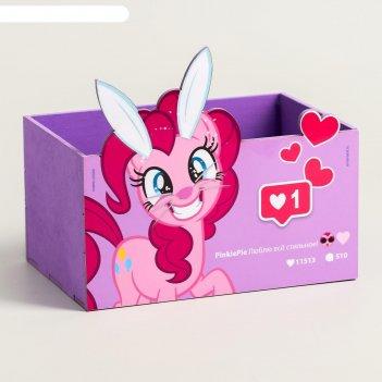 Органайзер для канцелярии пони, my little pony, 150 х 100 х 80 мм
