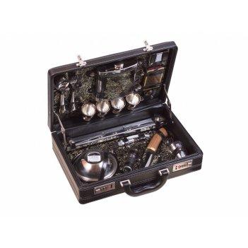 Набор подарочный для пикника в чемодане «стиль» (4 персоны)