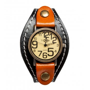 Y-ch048 браслет-часы классика черн/коричн