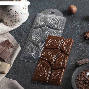 Форма для шоколада какао дольки 7х15х10 см