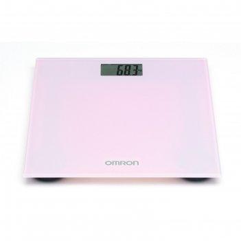 Весы напольные omron hn-289, электронные, до 150 кг, розовые