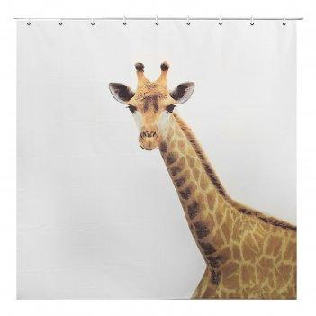 Штора для ванной 200х180 см жираф, полиэстер