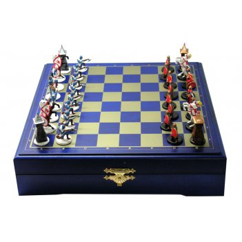 Rts-94 мини-шахматы ледовое побоище (покрашенные) 22х22см
