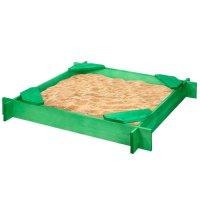 Песочница деревянная «ника», 120x120x14 см, 4 сидения, пропитка, зелёная