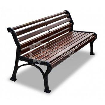 Скамейка садовая «ретро стиль» без подлокотников 2,0 м (три опоры)
