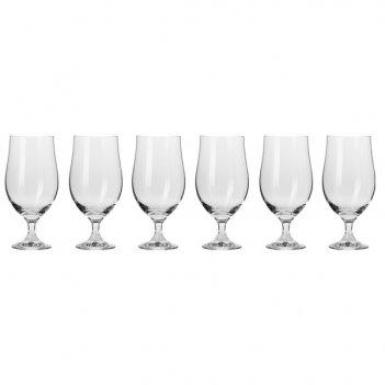Набор бокалов для пива krosno гармония 500мл, 6 шт