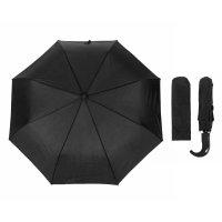 Зонт мужской, 3 сложения, суперавтомат, полукрюк, d = 58 см, цвет черный