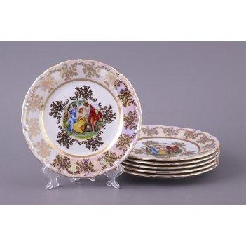 Набор тарелок из 6 шт. мадонна диаметр=17 см