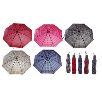 Зонт механический клетка, цвета микс