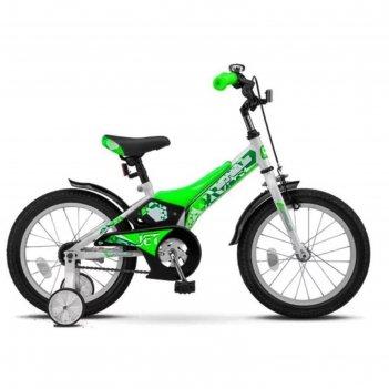 Велосипед 16 stels jet, z010, цвет белый/салатовый