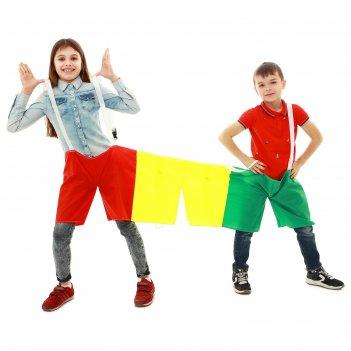 Шорты эстафетные, три штанины, для троих, детские