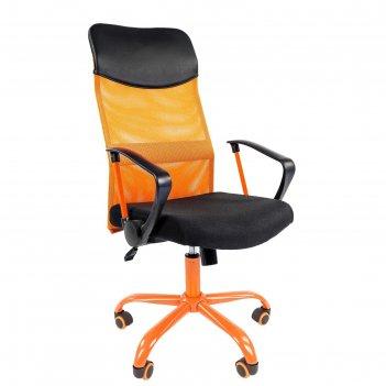 Кресло chairman 610 15-21 черный + tw оранжевый/cmet