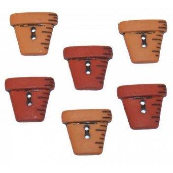 Декоративные пуговицы. цветочные горшки 800 ()