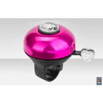 43az-10 звонок с бриллиантом алюминий чёрно-пурпурный