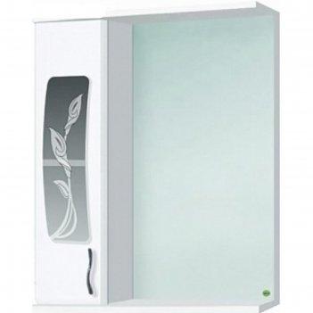 Шкаф-зеркало каламита 550 левый, белый, без подсветки арт.14786