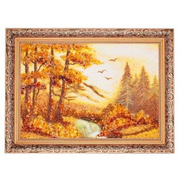 Картина янтарная насыпная
