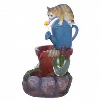 Фонтан декоративный кошка, l36,5 w30,5 h55 см