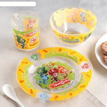 Набор посуды детский фиксики, 3 предмета
