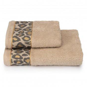 Полотенце махровое leopardo пц-3501-4478-2 цв.12-4301 70х130 см, бежевый,