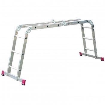 Стремянка-трансформер krause corda, шарнирная, четырехсекционная, 3 ступен