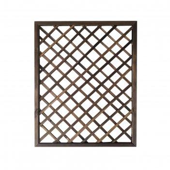 Ограждение декоративное, 120 x 90 x 6,5 см, деревянное