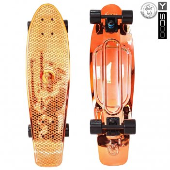 402h-o скейтборд y-scoo big fishskateboard metallic 27″ винил 68,6х1