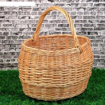 Корзина «грибная», №4, 38x32x42 см, 15 л, ручное плетение, лоза