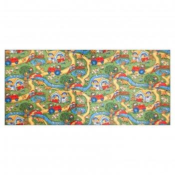 Ковер принт «каникулы», размер 250х500 см, полиамид