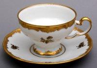 Набор для чая роза золотая 1007(чашка210мл.+блюдце) на 6перс.12пред.