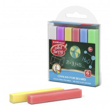 Мелки цветные для доски 6 штук erichkrause 45312