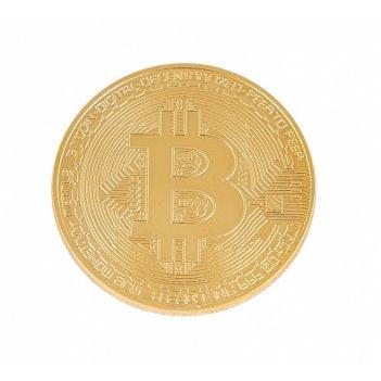 Сувенир монета золотой биткоин
