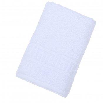 Полотенце махровое однотонное антей цв белый 50*90см 100% хлопок 400 гр/м