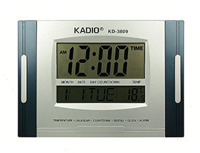 Электронная метеостанция 28*19*30см настенная: часы, термометр, календарь,