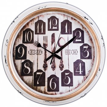 Часы настенные кварцевые кухня мира диаметр=36 см диаметр циферблата=26 см