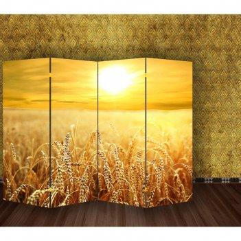 Ширма пшеничное поле, двухсторонняя, 200 x 160 см